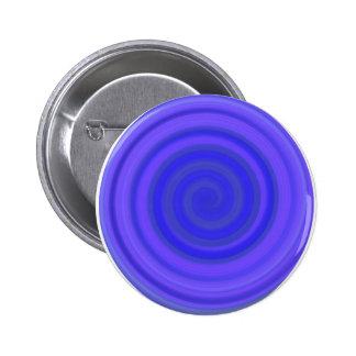 Remolino retro del caramelo en el azul violeta chapa redonda de 5 cm