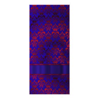 Remolino rojo y azul del damasco lona publicitaria