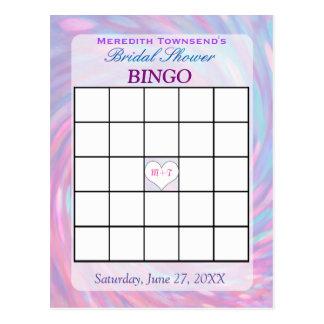 Remolino rosado de la tarjeta el | del bingo postal
