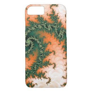 Remolino verde anaranjado abstracto funda para iPhone 8/7