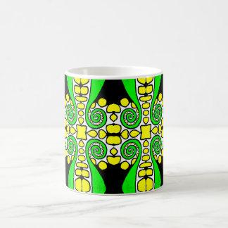 Remolino verde w/Yellow y extracto de la taza el |