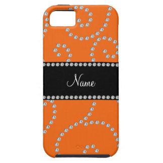 Remolinos anaranjados conocidos personalizados del iPhone 5 Case-Mate cobertura