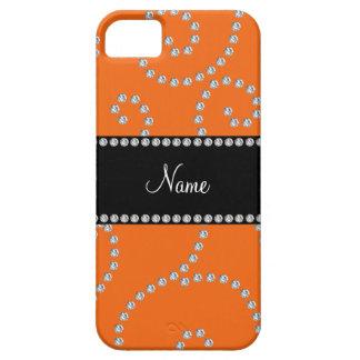 Remolinos anaranjados conocidos personalizados del iPhone 5 Case-Mate carcasa