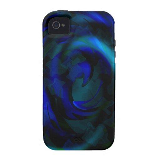 Remolinos azules iPhone 4/4S carcasas