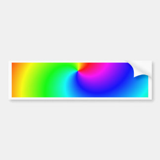 Remolinos brillantes del arco iris pegatina para coche