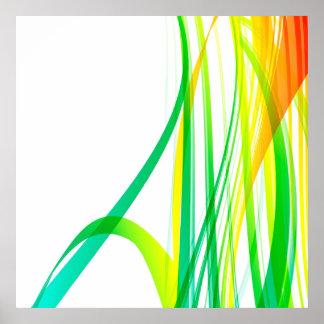 Remolinos coloridos abstractos modernos póster