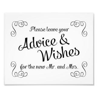Remolinos consejo y deseos que casan la impresión fotografía