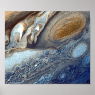 Remolinos de NASAs Júpiter Póster