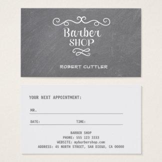 Remolinos del blanco de la peluquería de tarjeta de visita