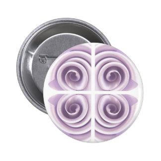 Remolinos del rosa de la lila de la fantasía chapa redonda 5 cm