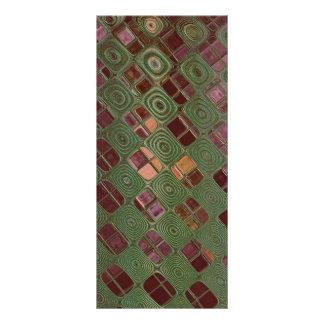 Remolinos del verde y tonos de la tierra diseño de tarjeta publicitaria