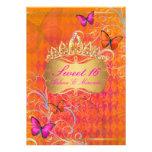 Remolinos dulces 16/Rainbow de PixDezines Papillon Invitacion Personalizada