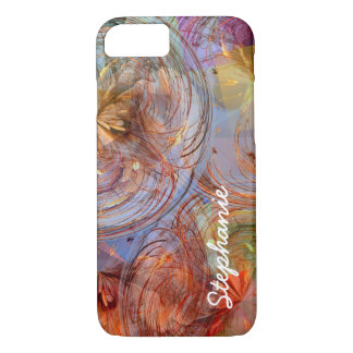 Remolinos geométricos florales abstractos funda iPhone 7