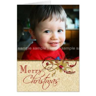 Remolinos Jeweled y tarjeta de Navidad de la foto