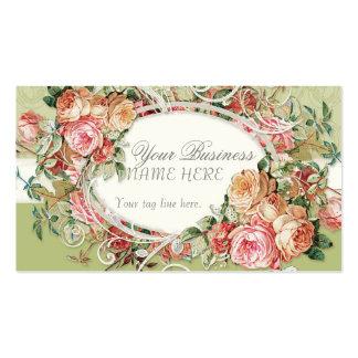 Remolinos modernos antiguos del ramo floral de los tarjeta personal