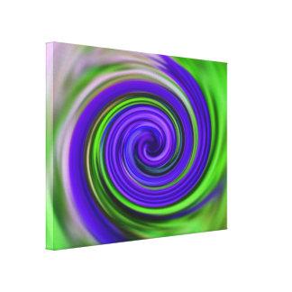 Remolinos púrpuras y verdes abstractos