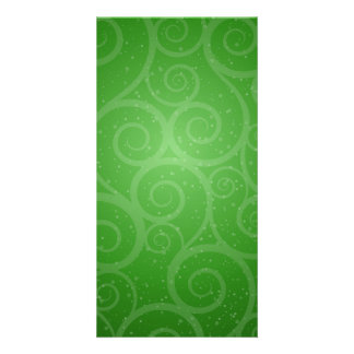 Remolinos verdes del fondo tarjetas fotograficas personalizadas