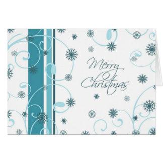 Remolinos y tarjeta de las Felices Navidad de la n
