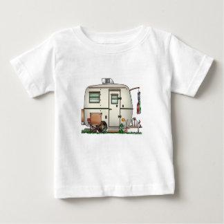 Remolque de cristal del viaje del campista del camiseta de bebé