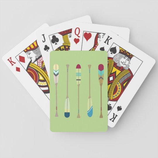 Remos del vintage barajas de cartas