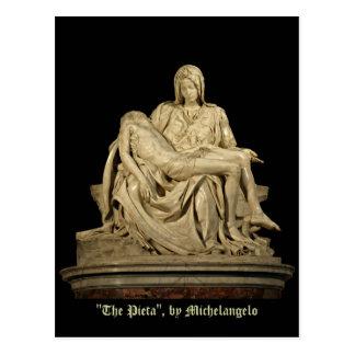 Renacimiento de la obra clásica del Pieta de Postal