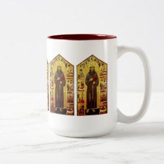 Renacimiento de los Franciscos de Asís del santo Taza De Café De Dos Colores