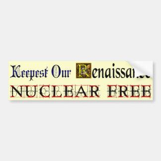Renacimiento libre nuclear que dice a la pegatina