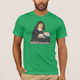 René Descartes Funny Tribute Camiseta