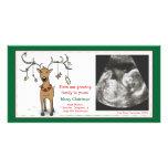Reno del aviso del embarazo de la tarjeta de tarjeta personal con foto