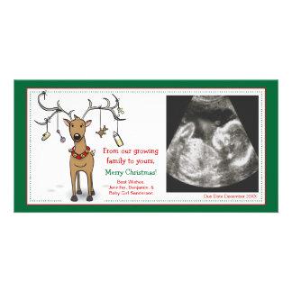 Reno del aviso del embarazo de la tarjeta de tarjeta fotografica