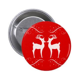 Reno del navidad chapa redonda 5 cm