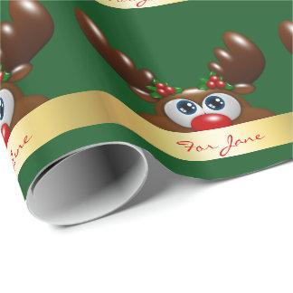 reno del navidad con un esmero especial papel de regalo