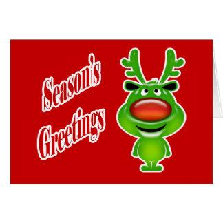 Reno del navidad de los asuntos divertidos tarjeta de felicitación