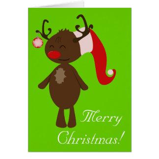 Reno del navidad tarjeta de felicitación