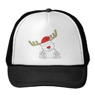 Reno del oso de peluche del navidad gorro