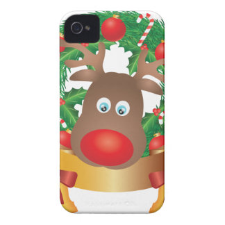 Reno en el ejemplo de la guirnalda del navidad carcasa para iPhone 4