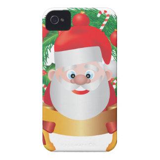 Reno en el ejemplo de la guirnalda del navidad funda para iPhone 4