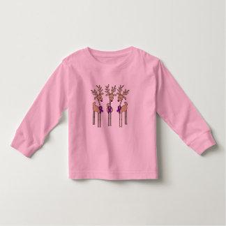 Reno púrpura de la cinta - enfermedad de Alzheimer Camiseta De Bebé