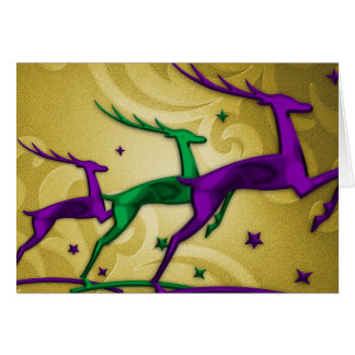 Reno púrpura del oro verde de la tarjeta del día