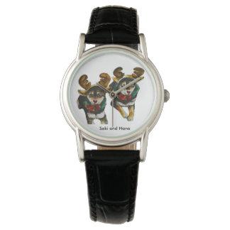 Reno Shiba Inu Hana y Saki Reloj De Pulsera