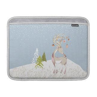 Reno y petirrojo lindos en la nieve funda para MacBook air