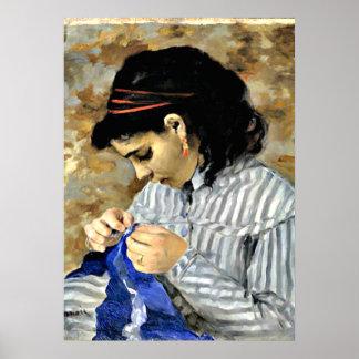 Renoir - costura de Lise Póster