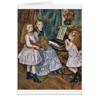 Renoir las hijas de Catulle Mendès Tarjeta De Felicitación