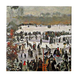 Renoir - patinadores en el Bois de Boulogne-1868 Tejas