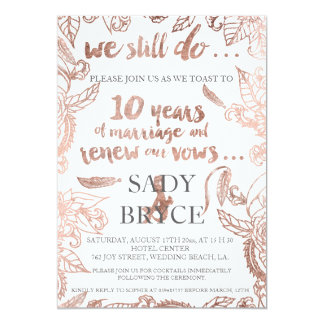 Compra tus invitaciones para el décimo aniversario de boda en la gran selección de Zazzle.