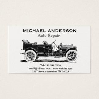 Reparación auto y concesionario de coches tarjeta de negocios