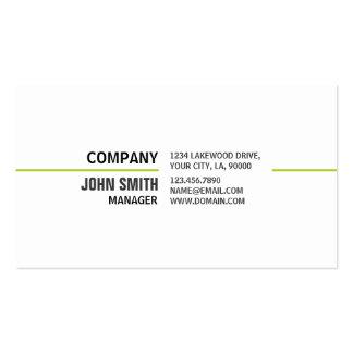 Reparación blanca elegante llana profesional del o tarjetas de visita