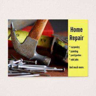 Reparación casera, carpintería, pintando… tarjeta de negocios