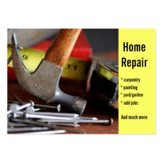 Reparación casera, carpintería, pintando… tarjetas de visita grandes