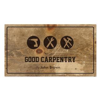Reparación de madera de la carpintería del marco tarjetas de visita